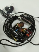 全新入耳式動圈動鐵耳機, 線控耳筒, 帶咪可對話, 金屬外殼, 重低音MMCX標準插口可換線, 發燒級Hi-Fi圈鐵耳機耳筒