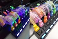 全新手提電話手機可伸長縮短發光幻變色USB充電及傳輸線 Android Apple iOS