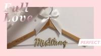 自訂名字日期新娘新郎英文字母名字 訂製掛住您木衣架 生日 結婚 男女朋友禮物