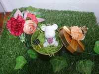 cwhandmade擴香石-熊仔款粉紅玫瑰花(跟1ML -活力精油 ( 復方精油))