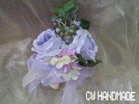 粉紫繡球絲花花球~ 02款新朗襟花