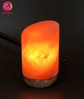 蓋婭鹽晶 - USB小鹽燈 - USB玫瑰鹽小鹽燈 - 斜柱造型小鹽燈(1入)