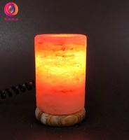 蓋婭鹽晶 - USB小鹽燈 - USB玫瑰鹽小鹽燈 - 圓柱造型小鹽燈(1入)。