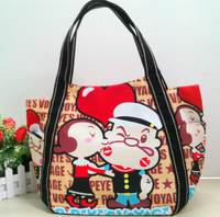 (清倉)正版日本人氣ILEA環保帆布袋 學生環保袋  休閑包 時尚熱賣新款 心跳款