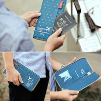 [預訂]多功能 證件套 護照 旅游 收納 防水 錢包 旅行 機票 保護套 牛津布 防潑水#ms01