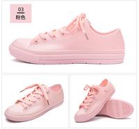 春夏雨鞋休閒韓版雨靴女士雨鞋防滑短筒水鞋平底雨鞋 (七色)