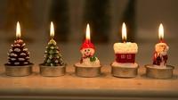 聖誕蠟燭/ 聖誕小擺設/ 浪漫 創意 小禮物(一盒四個)