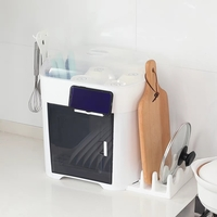 雙層碗筷瀝水架/多用途置物櫃/ 慳位廚房滴水碗櫃