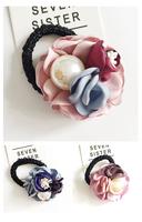 日韓花花高貴氣質珍珠 髮圈 (下單時請備註要什麼顏色)