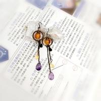 女士首飾/復古耳環/串珠耳環/寶石耳環/民族耳環(現貨)