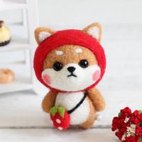 草莓柴犬羊毛毡戳戳樂材料包