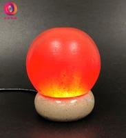 蓋婭鹽晶 - USB小鹽燈 ‧ USB頂級鴿血紅鹽小鹽燈 - 圓球造型小鹽燈(1入)