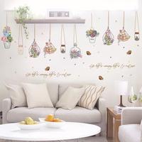 吊藍盆栽 客廳 房間裝飾diy 牆貼 SK7057