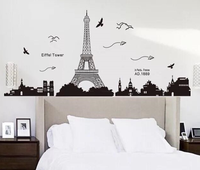 快樂巴黎之旅 牆貼KK049