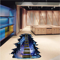 3D立體牆貼 宇宙吊橋 Fx8202