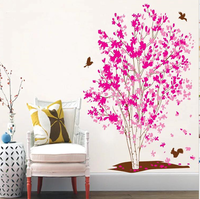 粉紅愛情樹 牆貼XY1161