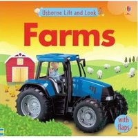 3263 亞馬遜五星好書 Usborne Lift and Look -- Farms (紙板翻翻書)  [課外書]