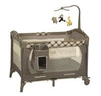 言B小店 - 獨家專櫃最新款BabyTrend PY81957 Jungle Friends 雙層BB床,嬰兒網床送公仔架 速遞+$60