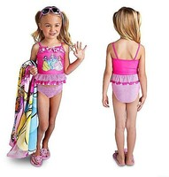 New Girls Princess Two Piece Swimsuits 全新公主兩件頭泳衣 Last one !  Size 2T