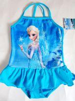 最新 冰雪奇緣 Disney Frozen Queen 迪士尼公主 愛莎公主 Elsa 女童 泳衣