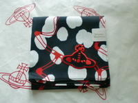 全新Vivienne Westwood黑色班點Logo手巾