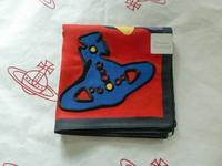 全新Vivienne Westwood紅色花花大Logo手巾