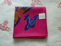 全新Vivienne Westwood桃紅色飛心Logo手巾