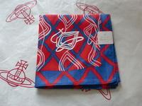 全新Vivienne Westwood紅色網紋Logo手巾