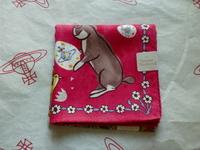 全新Vivienne Westwood桃紅色兔仔Logo手巾