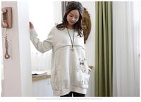 韓國直送 / 長袖Bear Bear間棉孕婦裝/哺乳衛衣/餵奶衫 / Nursing Clothes