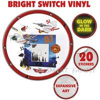 英國直送 迪士尼 Disney Planes Light My Way Light Switch Cover 飛機總動員夜光燈制牆貼 兒童幼兒家居自理用品