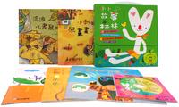 台灣書 - 小小故事森林 (5本+ 1CD) 套書 禮物書 4-7歲 創意遊戲 互動 圖畫書