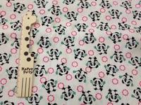 5527E  手工藝布料 日本棉布 - 熊貓- 白色
