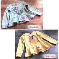 出口 日本 BB 童裝 公主 閃粉印花 美人魚 貝兒 Princess Ariel Belle 絨裡 衛衣 上衣 (現貨,自讓款少量,‼️請先看內容資料尺寸,非