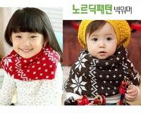 出口 韓國 秋冬 童裝 兒童 北歐 雪花 保暖 頭套 頸套 頸巾 圍巾 圍脖 $19包平郵