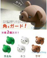 出口 日本 bb用品 安全 卡通硅膠 兒童 防撞角 一對2個