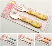 出口 bb用品 Anpanman 日本 面包 麵包超人 不銹鋼 匙 叉 嬰兒童 餐具 套裝 $16清貨
