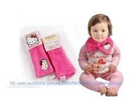 出口 日本 bb兒童用品 Hello Kitty 珊瑚絨 圍巾 圍脖 頸套 頸巾 特價 $29