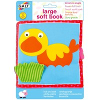 GALT soft book 出口 英國 立體 響紙 咇咇器 多觸感 嬰兒 早教 動物 布書 小鴨款 $22
