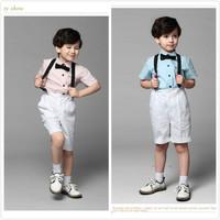 兒童短袖禮服套裝 / 花童服 / 演出服 / 主持人服 / 男童禮服  4件套