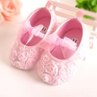 嬰兒玫瑰花軟底學步鞋 / 嬰兒公主鞋