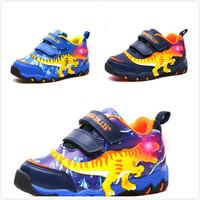 秋冬男童恐龍閃燈鞋 / 兒童發光運動鞋