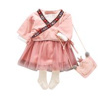 韓版嬰兒中國風兩件套 / 女童唐服套裝