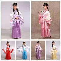 兒童古裝 / 仙女服 / 表演服 / 演出服 / 女童漢服大擺裙 / 古典舞蹈服