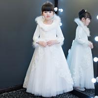 冬季兒童婚紗 / 女童蓬蓬紗裙 / 女童公主裙 / 花女裙 / 演出服