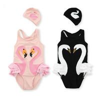 兒童天鵝連體泳衣