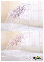 韓國長柄櫻花透明雨傘 / 手動長柄透明雨傘    櫻花款