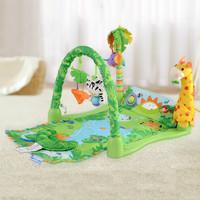 FISHER PRICE嬰兒音樂動物健身器 / 森林動物健身架 0-1歲