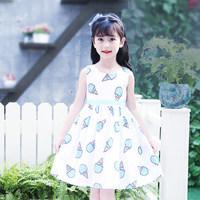 夏裝女童背心連衣裙 / 兒童短袖純棉公主裙   雪糕款