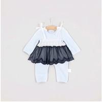 秋裝嬰兒蕾絲連體衣哈服 / 嬰兒蕾絲爬行服
